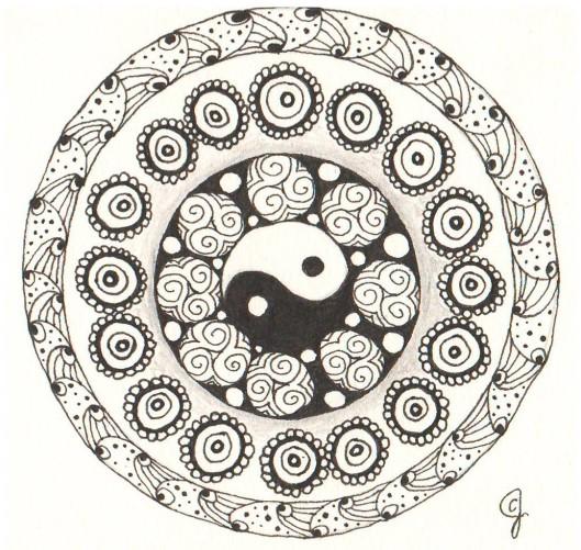 Circle Zendala: Diva Challenge #169