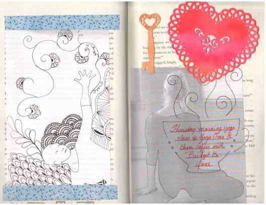 yoga variations and new heart die cut