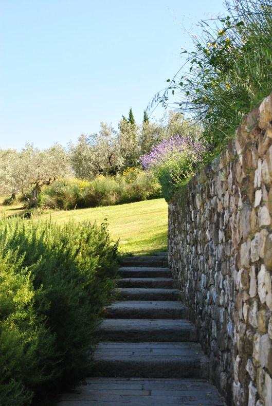 castello bibbione pool stairs