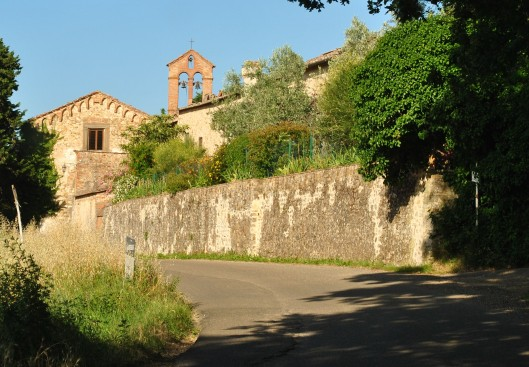 Tuscan road with bells