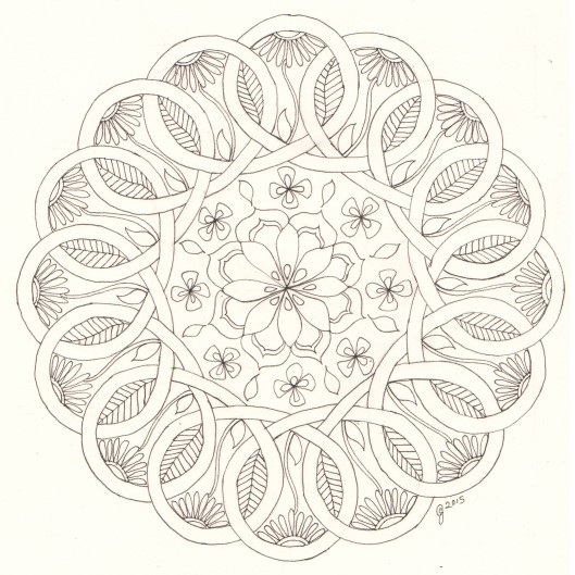 Celtic flowers and shamrocks