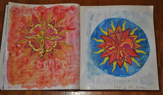 sun mandala and hampster 011