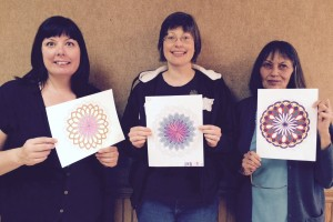 Coloring club participants may 2015