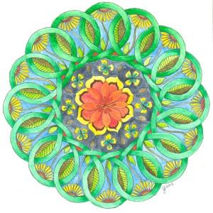 painted celtic knot mandala