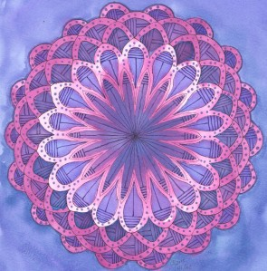 purple flower mandala