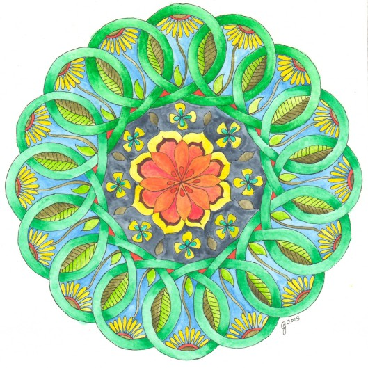 painted celtic knot mandala