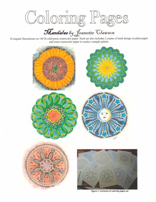 mandalas coloring pages set cover page
