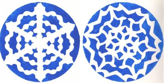 snow flake mandala cards