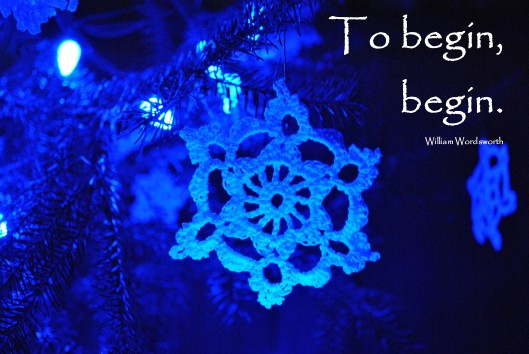 blue snowflake begin quote