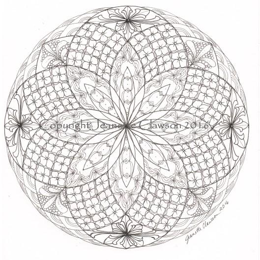zentangled torus mandala copyright