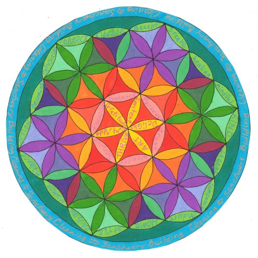 word audition flower of life mandala