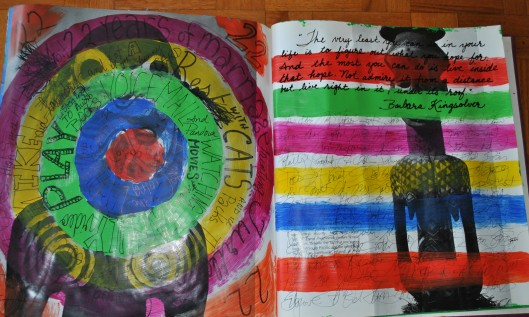 rainbow and circles 001