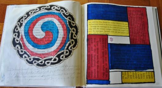 mondrian and celtic mandala 001