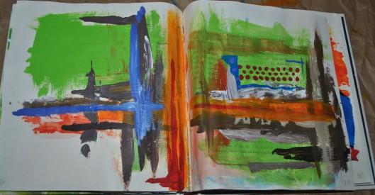 gratitude mandalas and color mixing 004