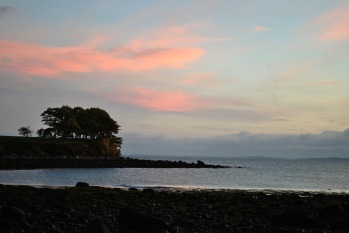 rockland-breakwater-lighthouse-sunrise-trees-and-rocks
