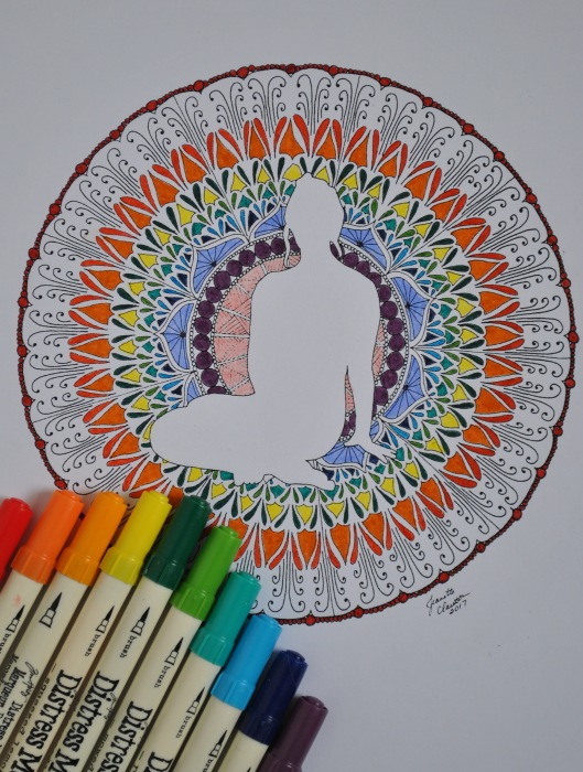 colored peace zendala