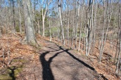 Gillette castle path to pond bridge