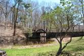 Gillette castle pond bridge with mike