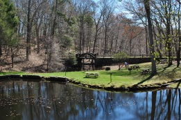 Gillette castle ponds and bridge