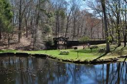 Gillette castle ponds and bridge