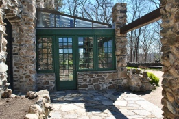 Gillette castle sunroom door