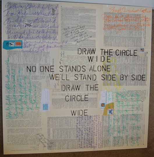 draw the circle wide mandala in progress