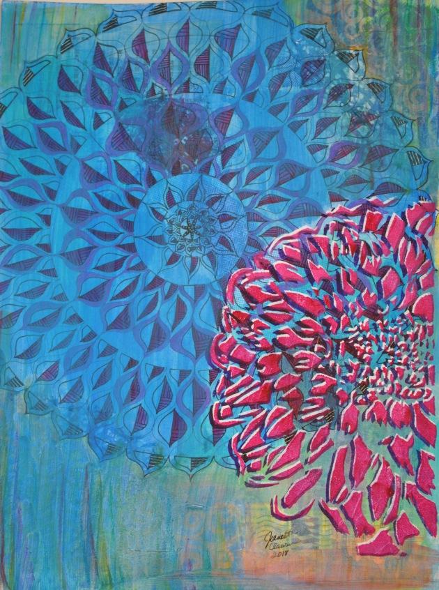 dahlia dalliance painting finished